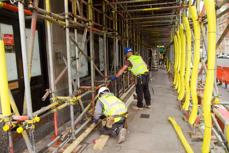 Material till byggnadsställningarbetare royaltyfri foto