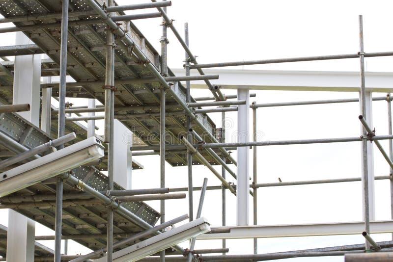 Material till byggnadsställningbeståndsdelar royaltyfri foto