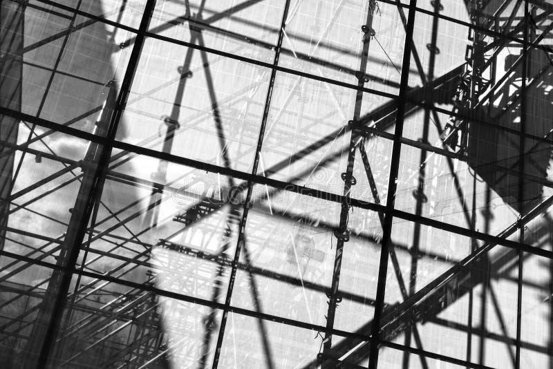Material till byggnadsställningbeståndsdelar fotografering för bildbyråer
