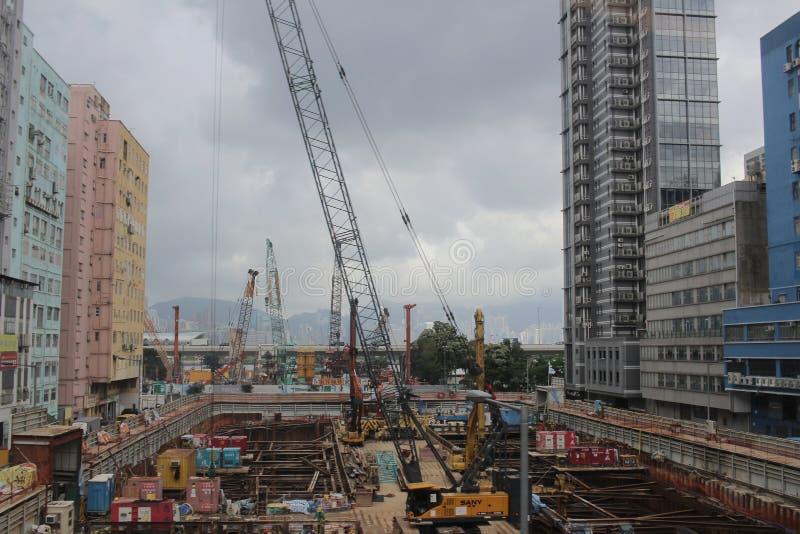 Material till byggnadsställningbeståndsdelar i en konstruktion arkivbilder