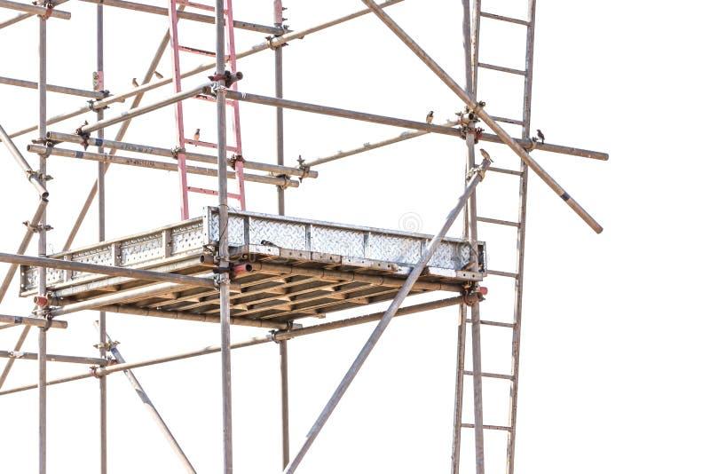 Material till byggnadsställningbeståndsdelar på vit bakgrund royaltyfria bilder