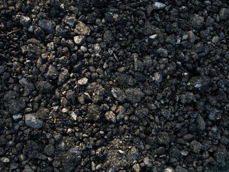 Materiale al suolo della strada della ghiaia fresca del blacktop fotografie stock libere da diritti