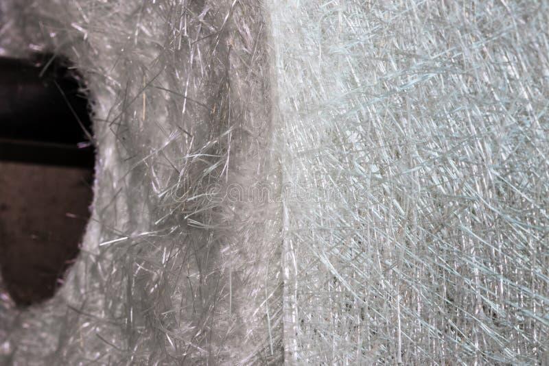 Materiale composito del rotolo del tessuto della vetroresina fotografie stock