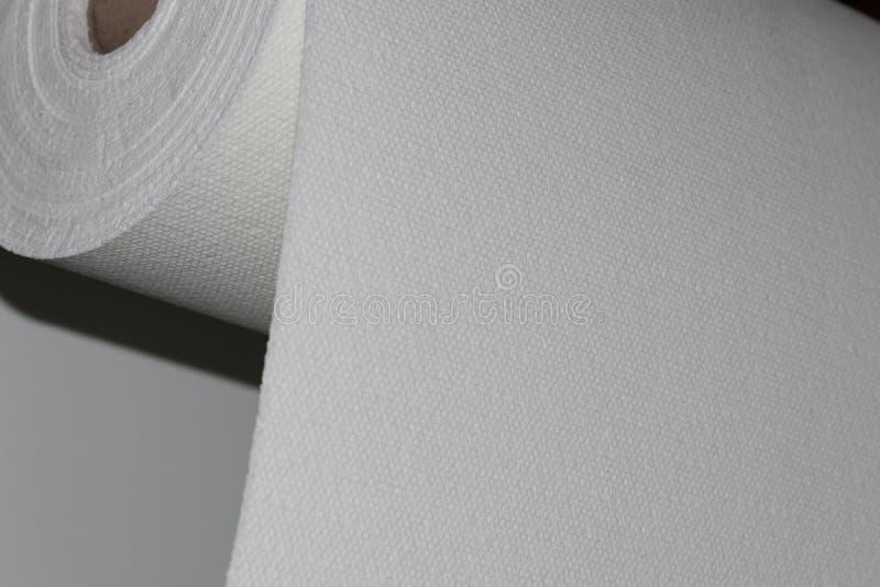 Materiale composito del rotolo del tessuto della vetroresina fotografia stock libera da diritti