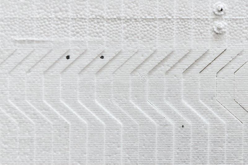 Materiale da costruzione - polistirene espanso - strati di schiuma di stirolo fotografie stock libere da diritti