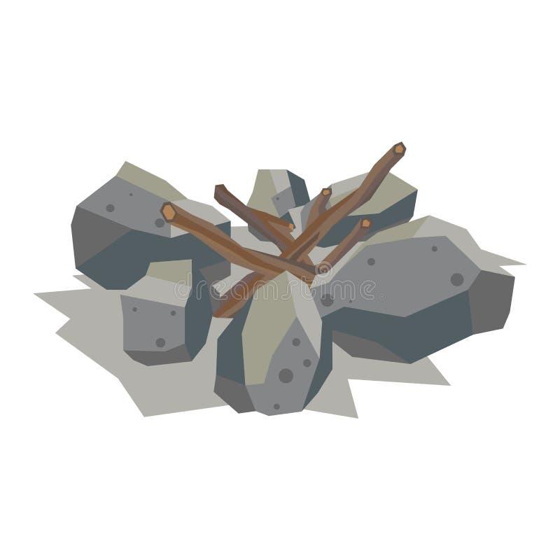 Materiale della pietra di vettore della pila del camino royalty illustrazione gratis