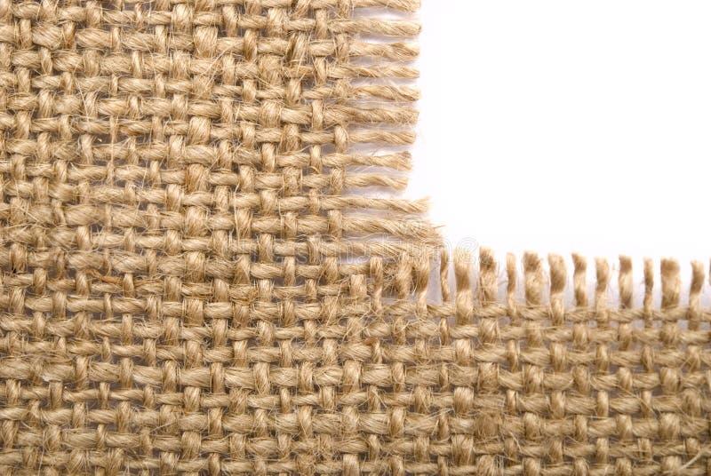Materiale della tela di sacco fotografia stock