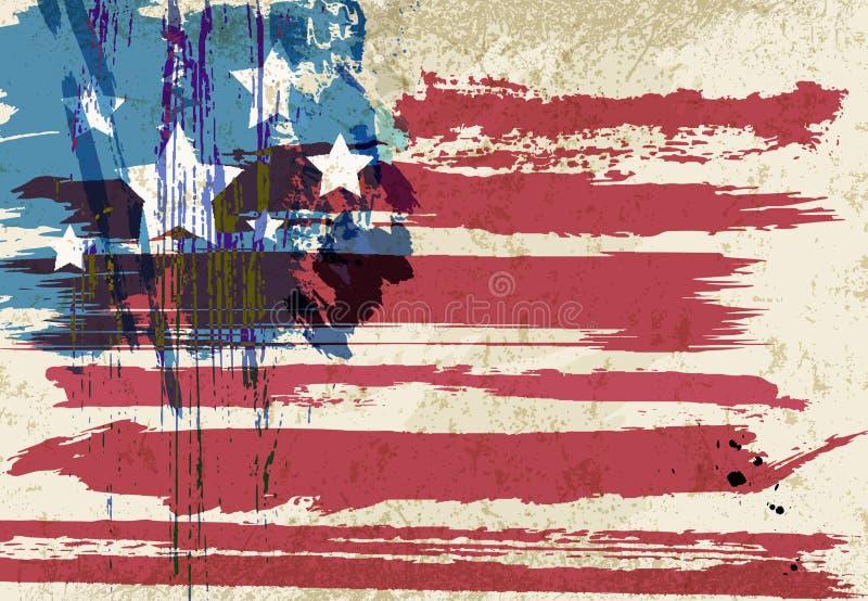 Materiale illustrativo della bandiera americana illustrazione di stock