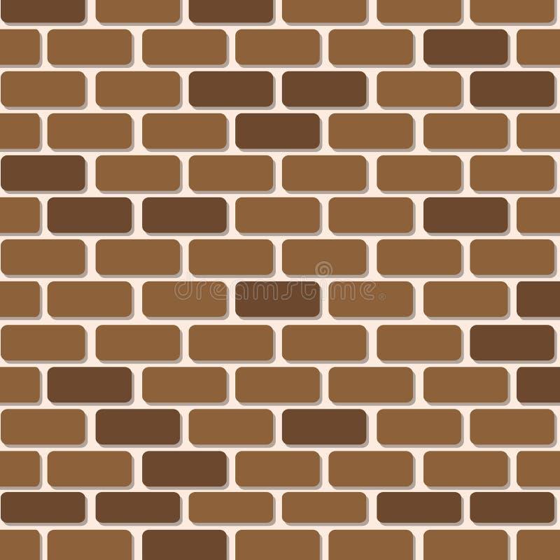 Materiale illustrativo della carta di muro di mattoni per fondo illustrazione di stock