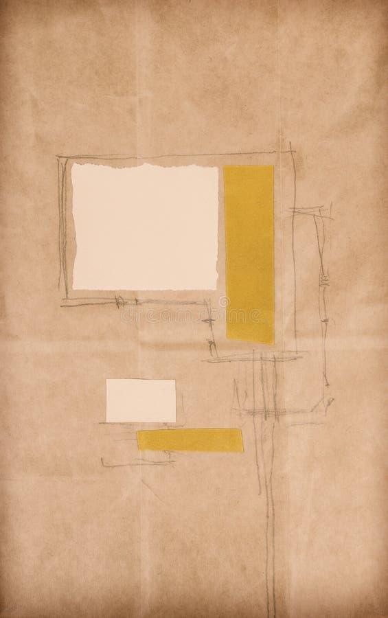Materiale illustrativo di carta del collage illustrazione vettoriale