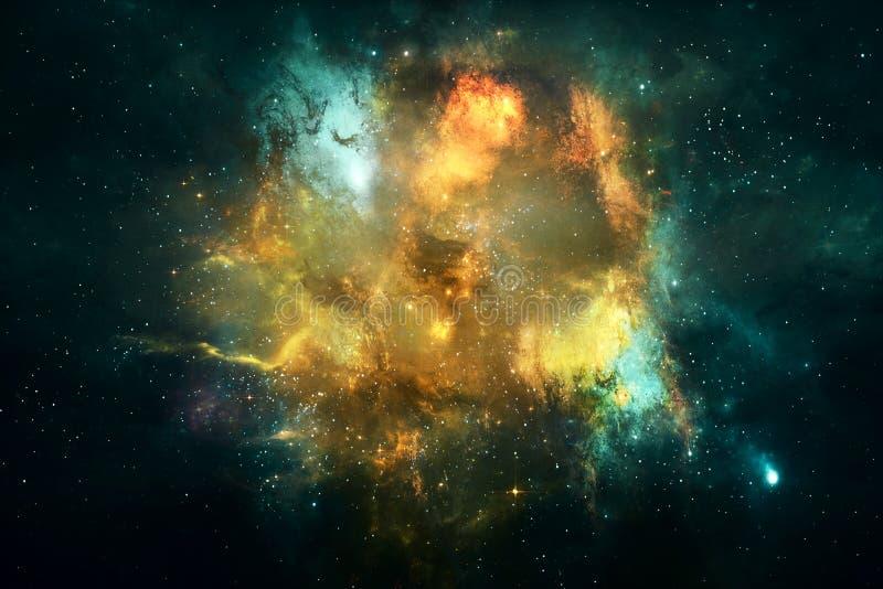 Materiale illustrativo liscio multicolore artificiale impressionante della galassia della nebulosa dell'estratto illustrazione di stock