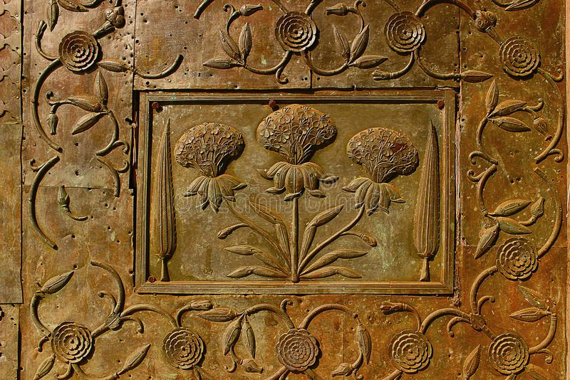 Materiale illustrativo sulle pareti del Bibi-Ka-Maqbara, Aurangabad, maharashtra immagini stock libere da diritti