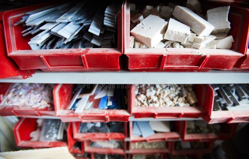 Materialen voor mozaïek royalty-vrije stock foto
