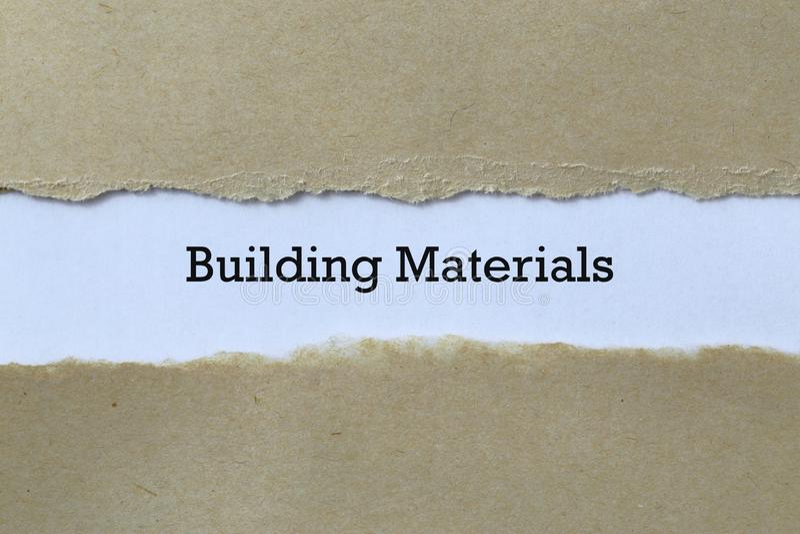 Materiales de construcción sobre papel fotos de archivo libres de regalías