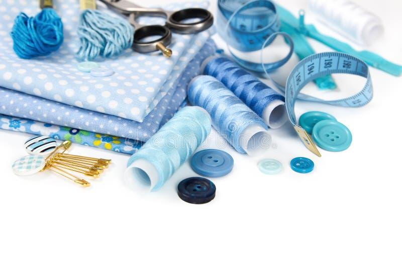 Materiales y accesorios para coser imagen de archivo libre de regalías