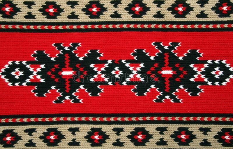 Materiali tradizionali e ricamo bulgaro immagini stock
