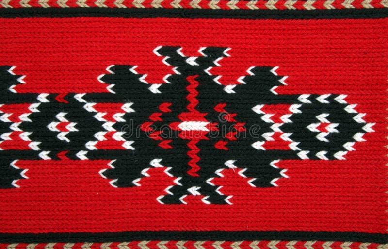 Materiali tradizionali e ricamo bulgaro immagine stock libera da diritti