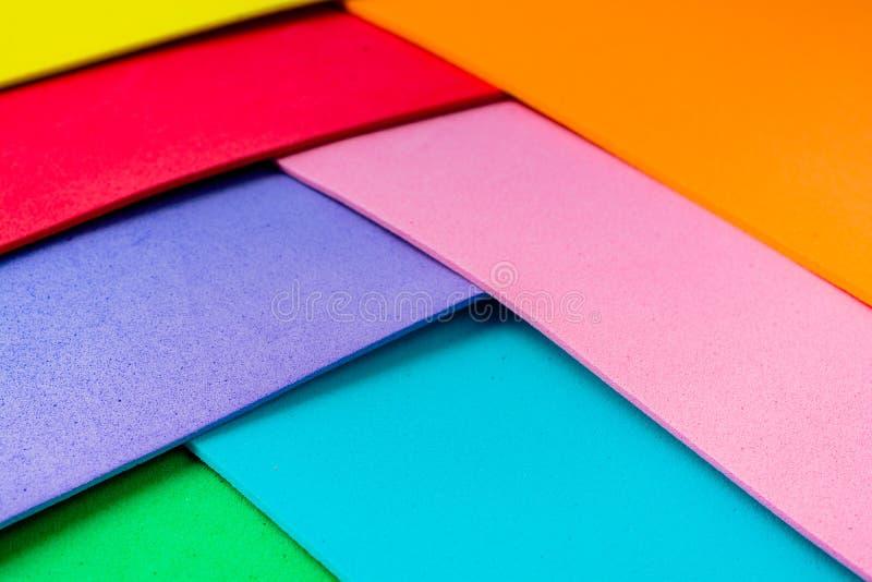 Materialnego projekta kolorowe warstwy fotografia royalty free