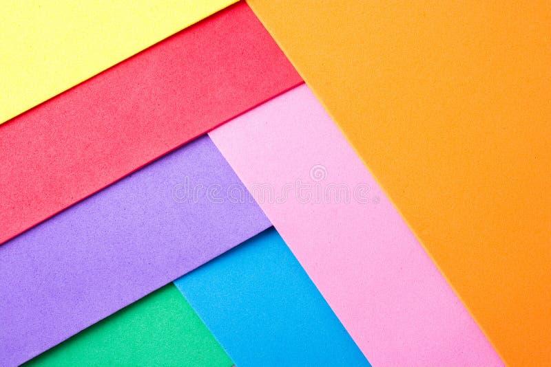 Materialnego projekta kolorowe warstwy zdjęcia royalty free
