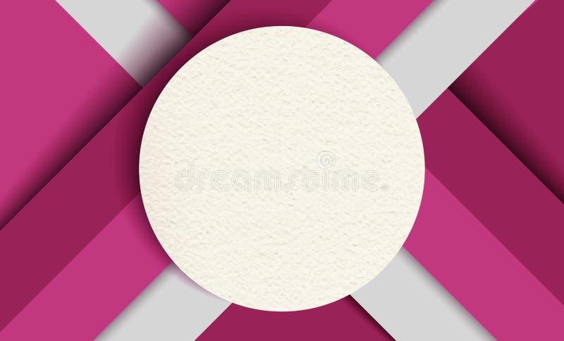Materialny projekta tło, kolorowi papierów kształty ilustracja wektor
