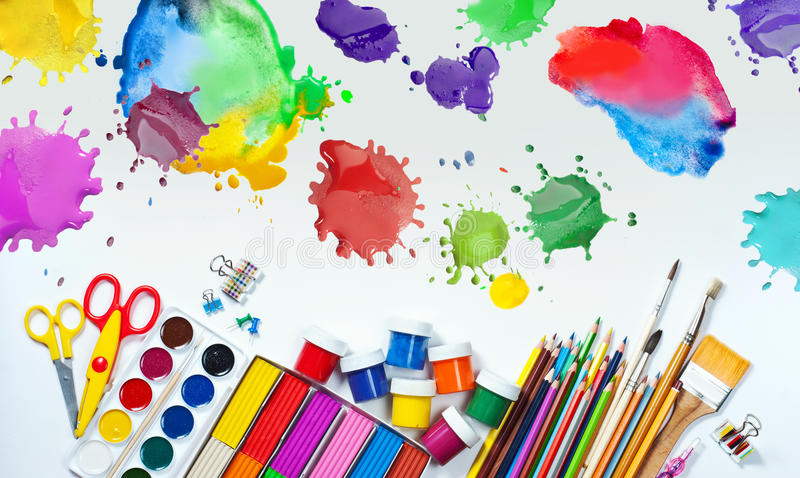Materials for children 39 s creativity stock image image of for Children arts and craft