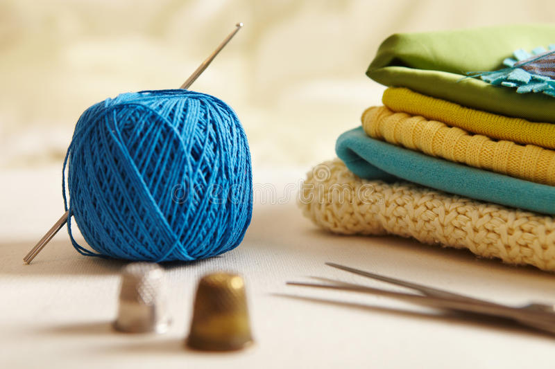 Materials for needlework. royalty free stock image