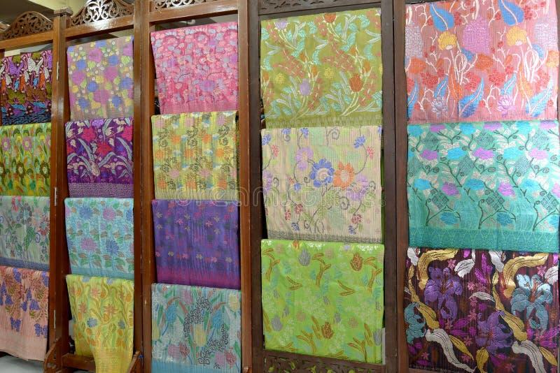Materias textiles de Songket imagen de archivo
