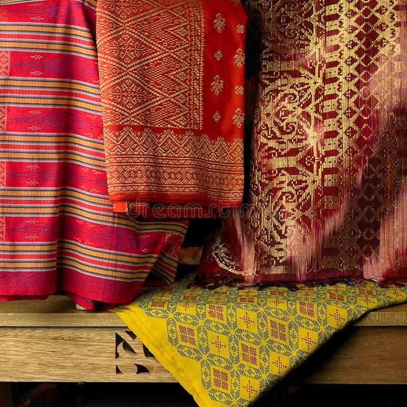 Materias textiles de Songket foto de archivo libre de regalías
