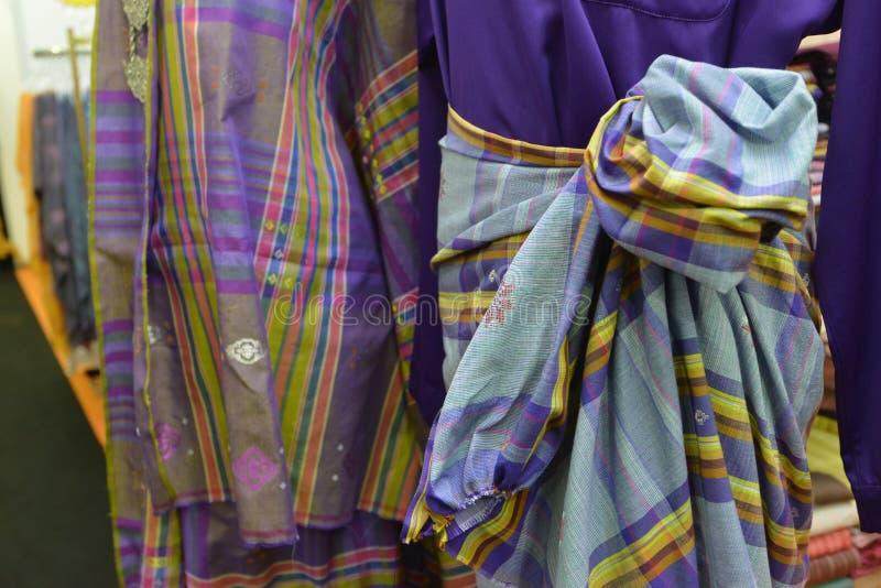 Materias textiles de Songket fotografía de archivo