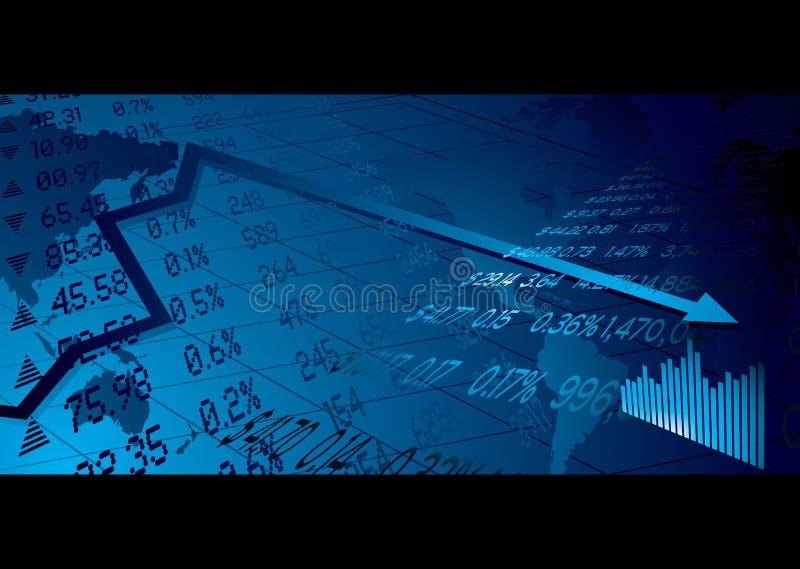 materiel för affärsmarknad stock illustrationer