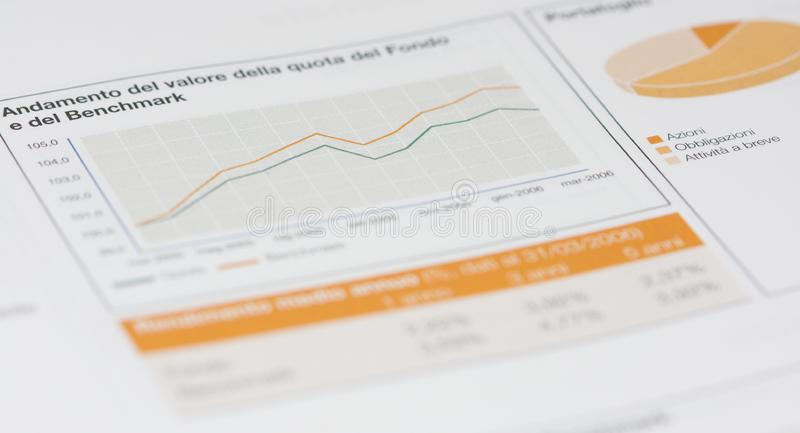 materiel för portfölj för pie för diagramgrafmarknad arkivfoton