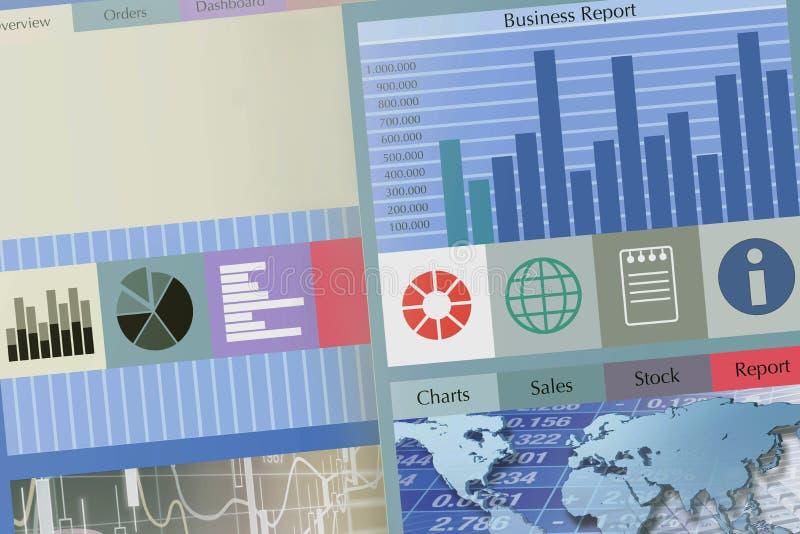 materiel för rapport för kontroll för marknad för affärsgrafer vektor illustrationer