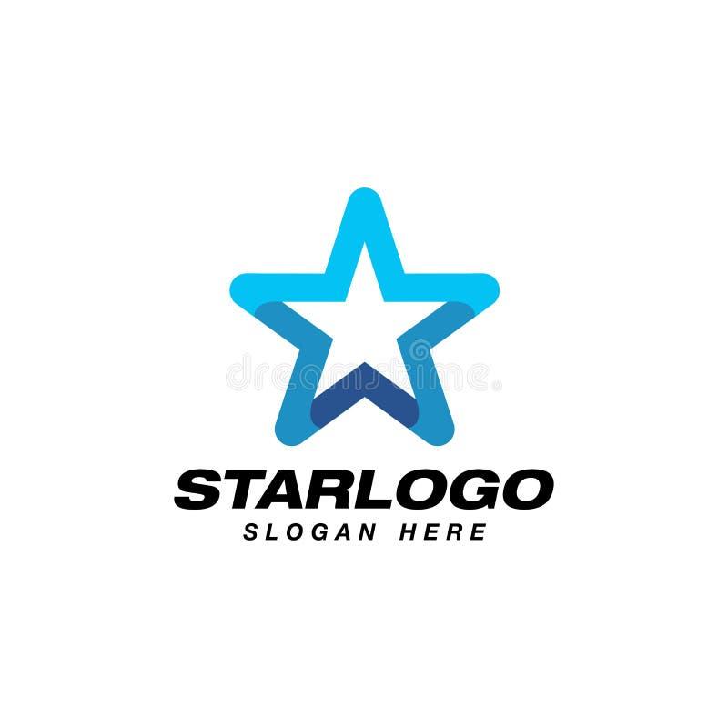 materiel för stjärnalogodesign stjärnasymbol i lutningstil royaltyfri illustrationer