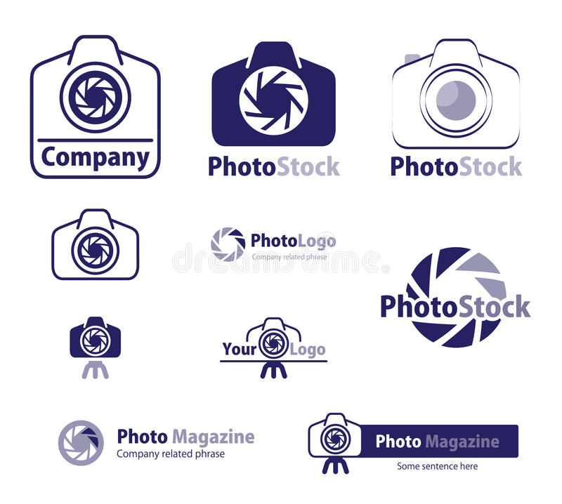 materiel för symbolslogofoto stock illustrationer