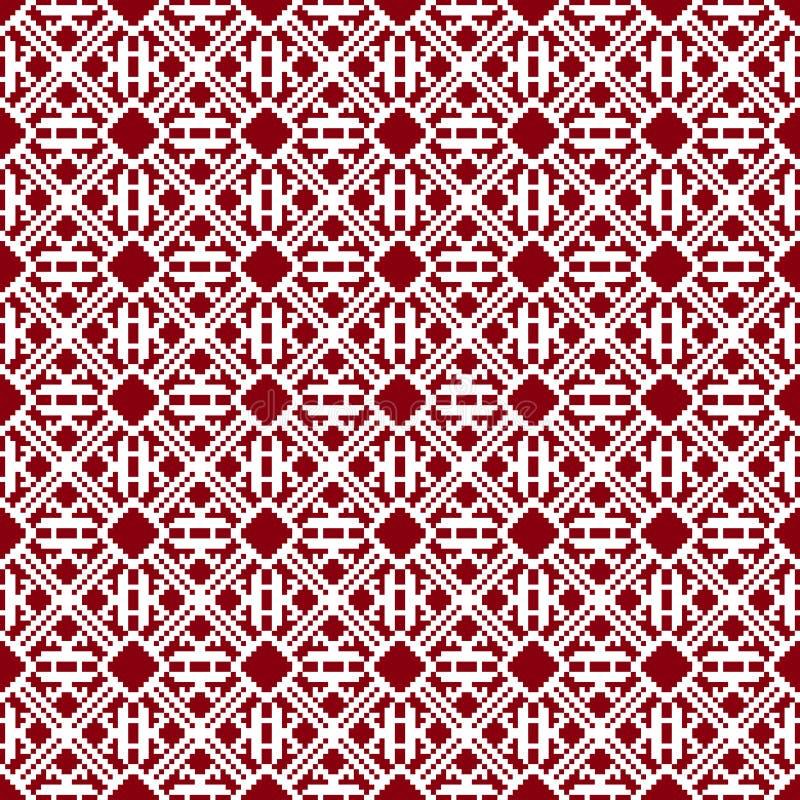 materiel Seamless tyg Glad jul och lyckligt nytt år Tillfället PIXEL vektor illustrationer