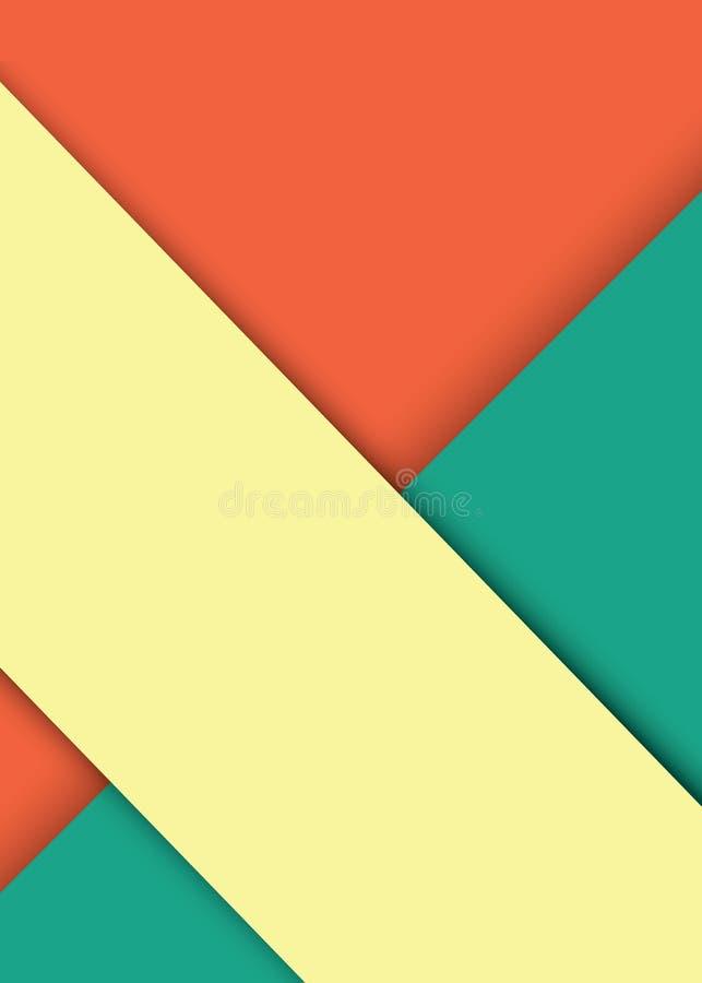 Materiell design för abstrakt modern form Materiell designbakgrund eller tapet också vektor för coreldrawillustration royaltyfri illustrationer