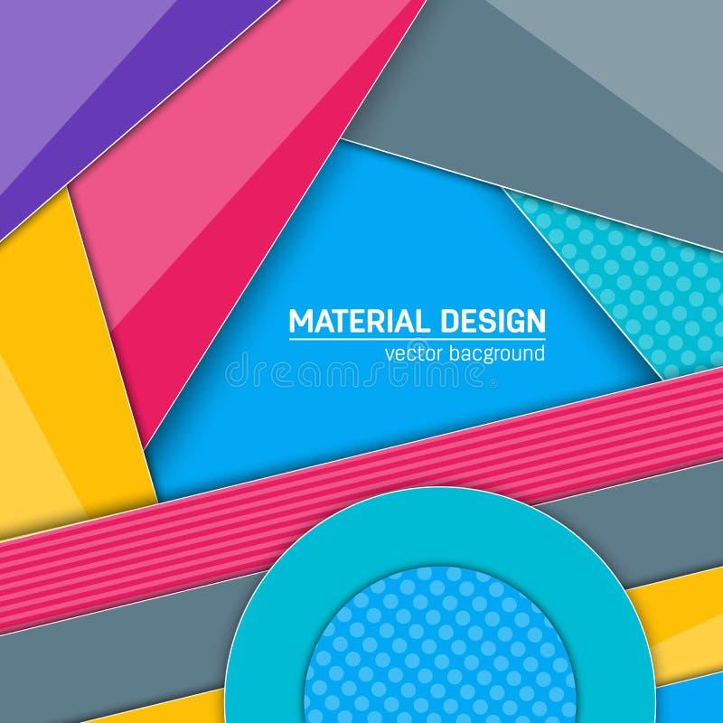 Materiell designbakgrund för vektor Abstrakt idérik begreppsorienteringsmall För rengöringsduken och mobilen app, pappers- konst royaltyfri illustrationer