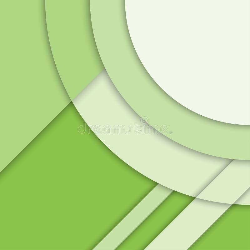 Materiell designbakgrund Modern grön vektorbakgrund, moderiktig geometrisk mall abstrakt vektorillustration stock illustrationer