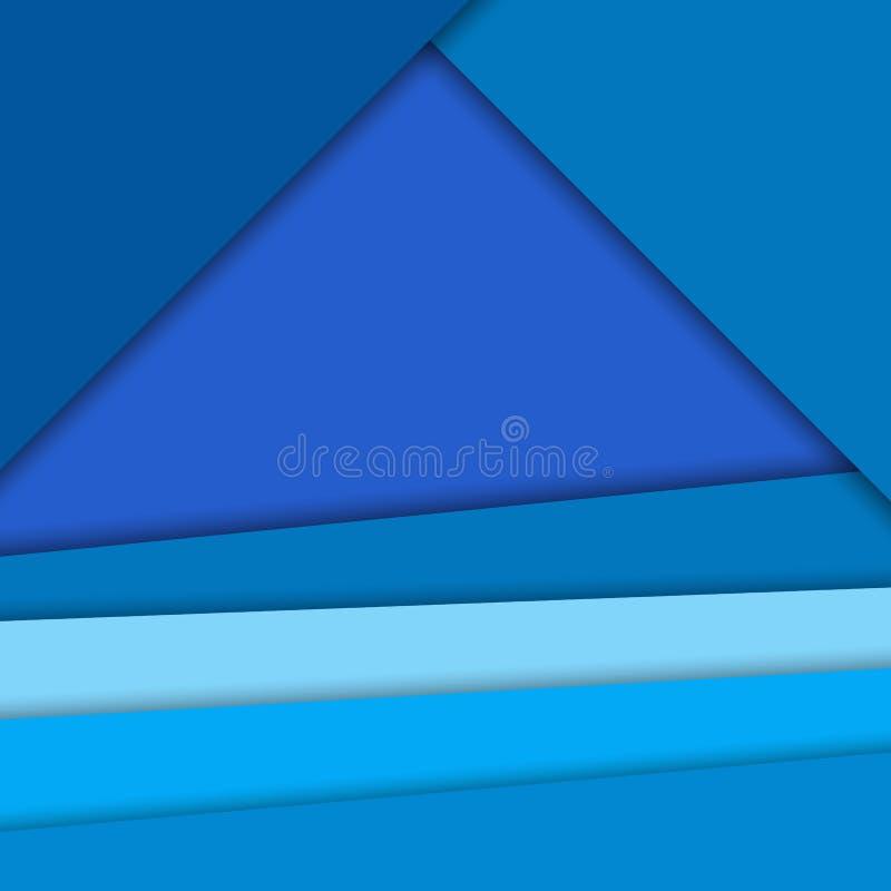 Materiell designvektorbakgrund, ljusa blått färgar stock illustrationer