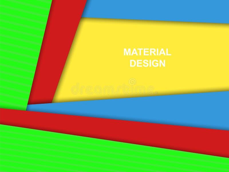 Materiell designvektorbakgrund, ljusa färger stock illustrationer