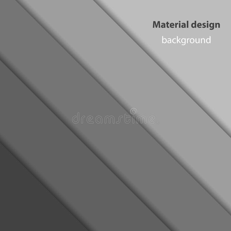 Materiell designvektorbakgrund, monokromfärger royaltyfri illustrationer