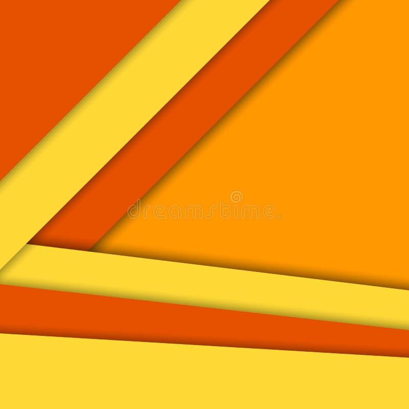Materiell designvektorbakgrund som är ljus värme färger vektor illustrationer