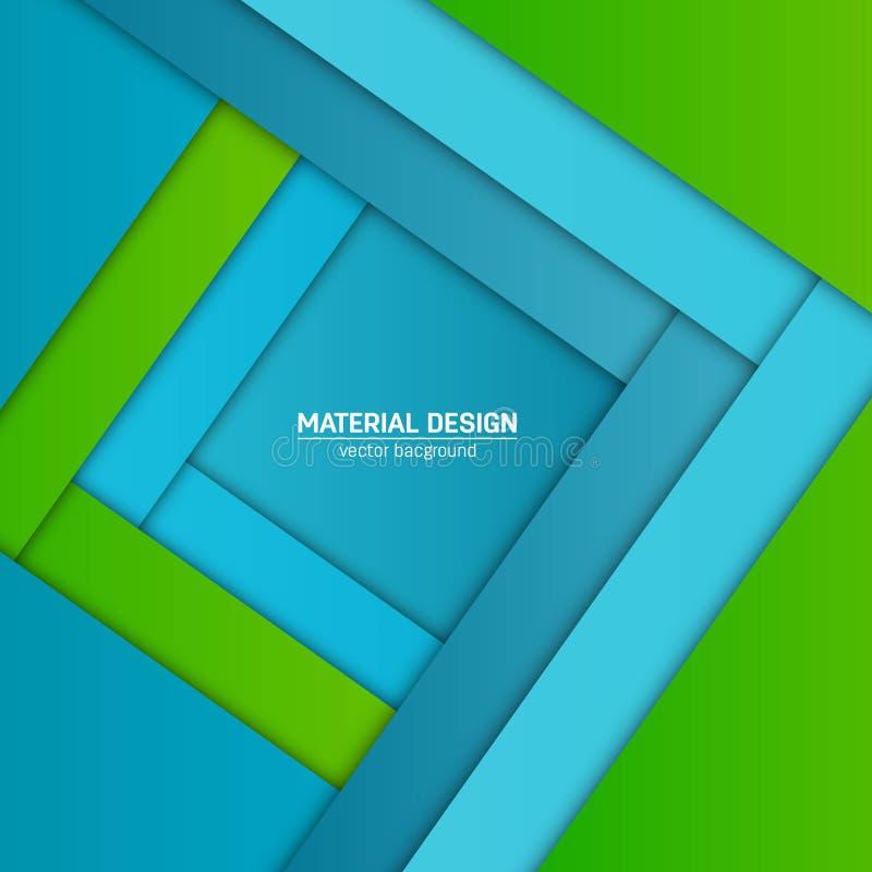 Materieller Designhintergrund des Vektors Abstrakte kreative Konzeptplanschablone Für Netz und bewegliche APP Papierkunstillustra lizenzfreie abbildung