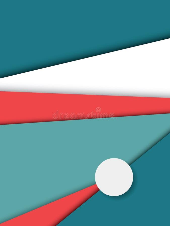 Materieller Designzusammenfassungs-Vektorhintergrund mit geometrischen isometrischen Formen lizenzfreie abbildung
