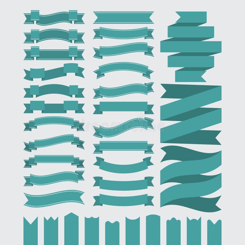 Materielvektoruppsättning av band vektor illustrationer
