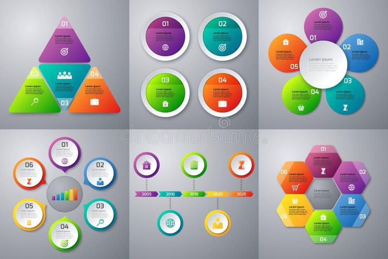 Materielvektoruppsättning av infographics vektor illustrationer