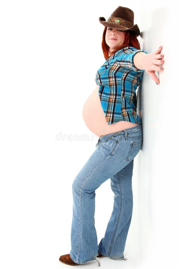 Maternità della ragazza del paese immagini stock
