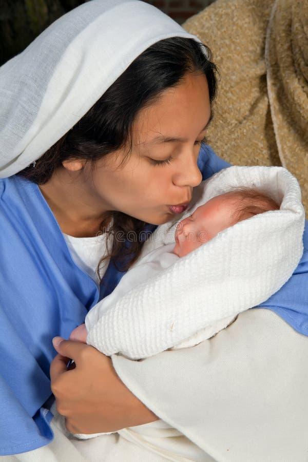 Maternità di Natale fotografia stock libera da diritti