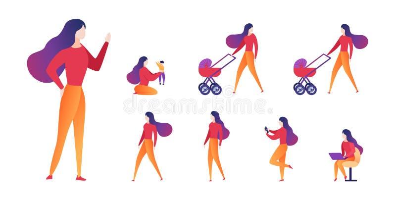 Maternité et carrière bien choisies d'illustration de vecteur illustration stock