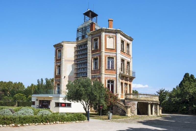 Maternite Suisse building in Elne, France stock photo